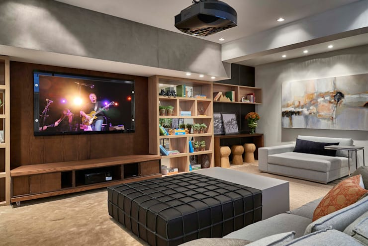 Decora Lider Campinas – Home theater: Salas de estar  por Lider Interiores,