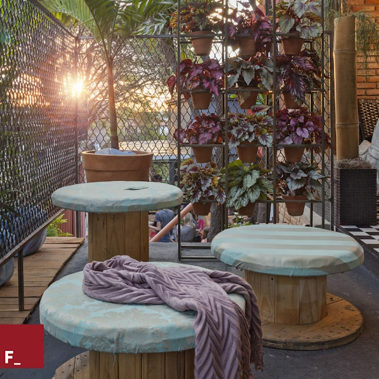 Jardín de estilo  por Fadel Arquitetura