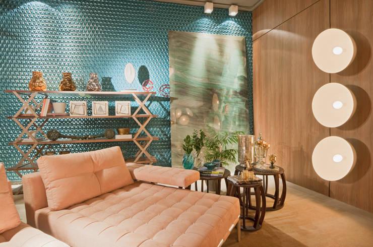 Estar do Foyer: Salas de estar modernas por Mariana Borges e Thaysa Godoy