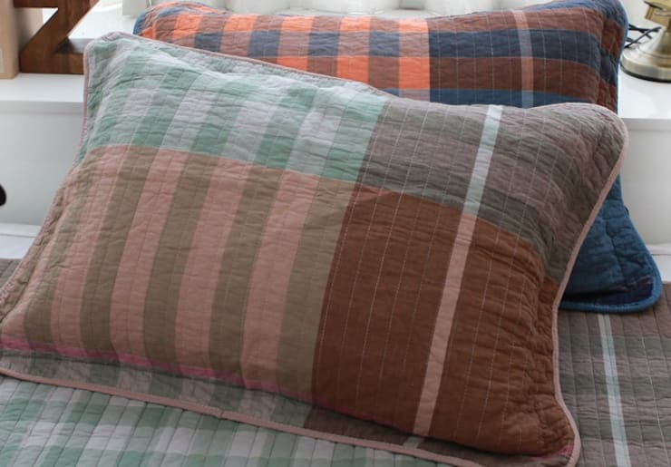 유로 스트라이프(선염지) 베개커버-브라운 (50x70cm) : 쉬즈가의  침실