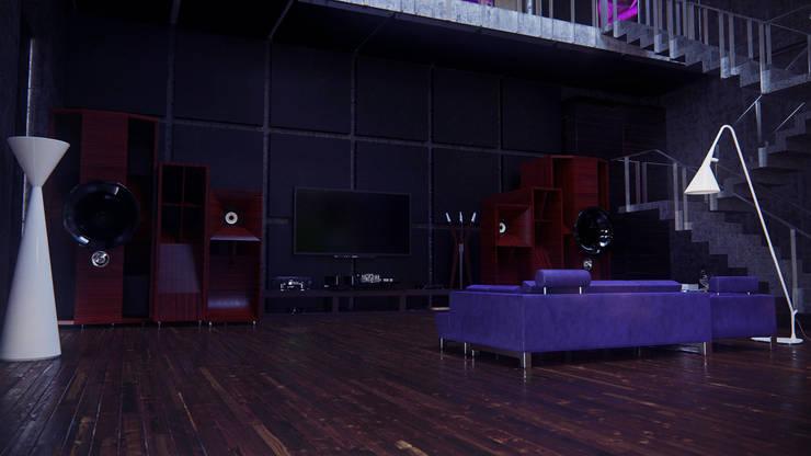 Audiophile Loft: Медиа комнаты в . Автор – SVPREMVS,