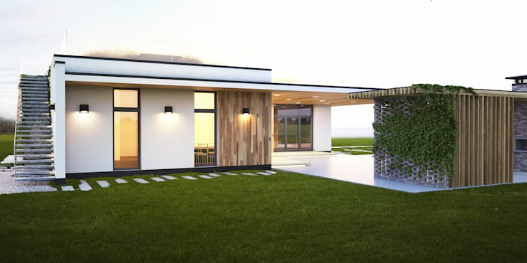 ПРОЕКТ ЧАСТНОГО ДОМА В ХАРЬКОВЕ «УЛИЦА 77»: Дома в . Автор – IK-architects, Минимализм