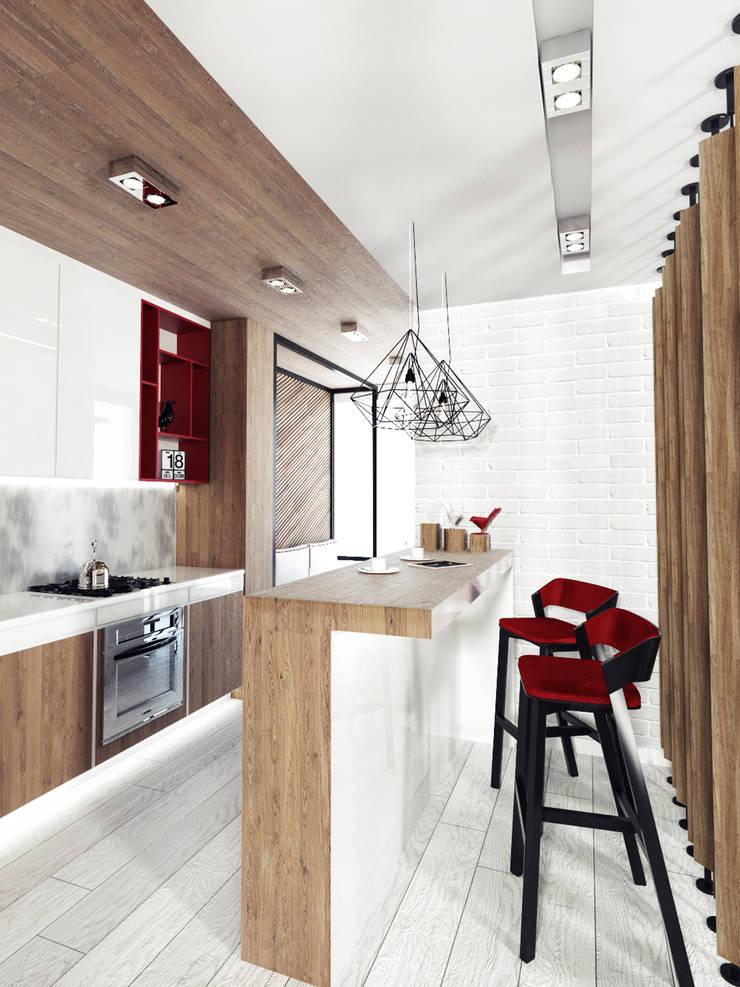 KEKS'S APARTMENT: Кухни в . Автор – IK-architects
