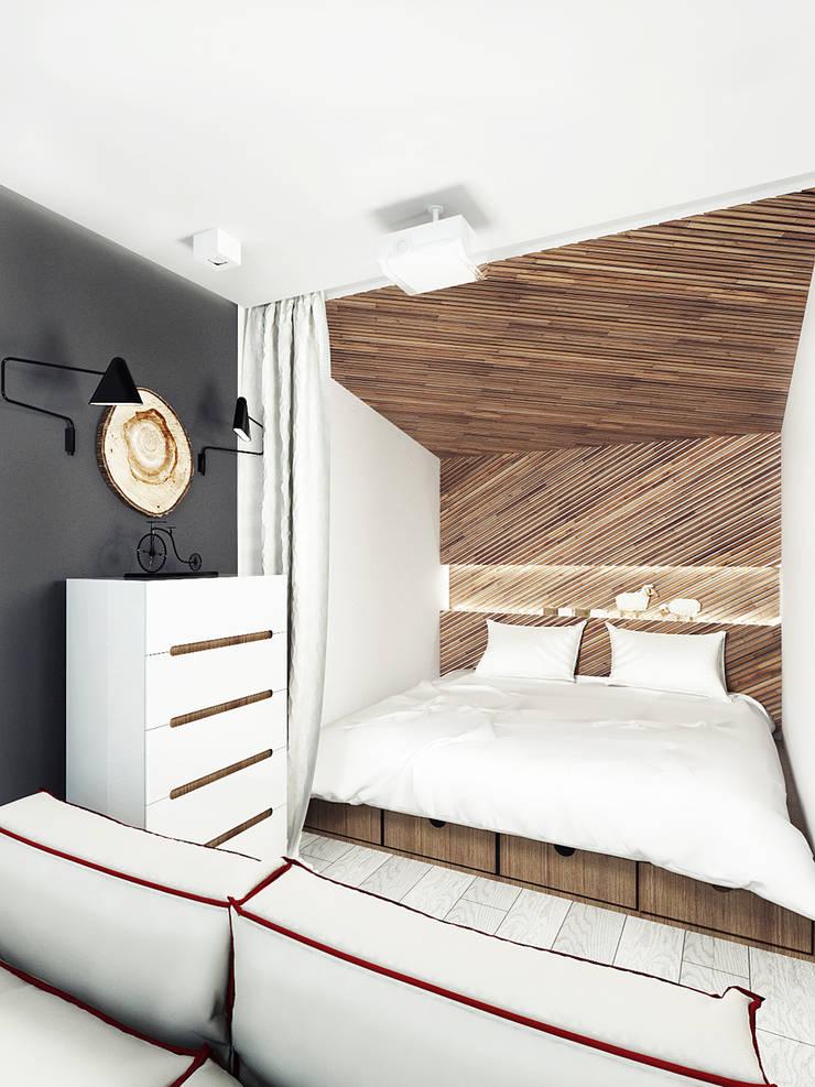 KEKS'S APARTMENT: Спальни в . Автор – IK-architects