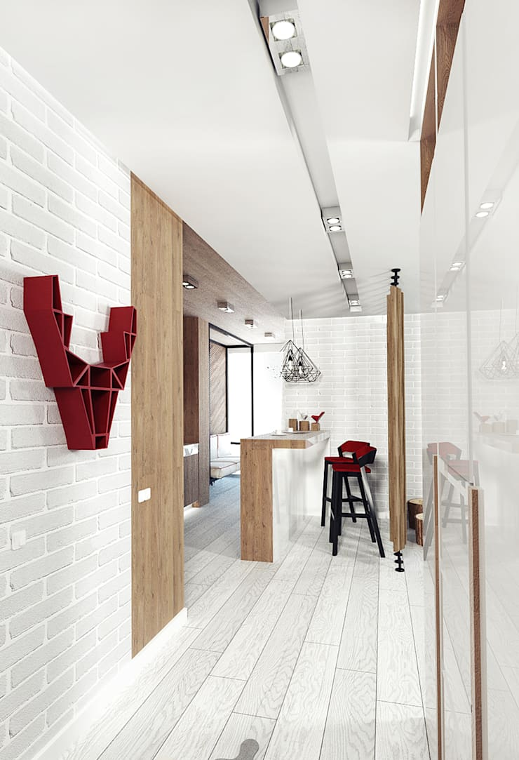 KEKS'S APARTMENT: Коридор и прихожая в . Автор – IK-architects