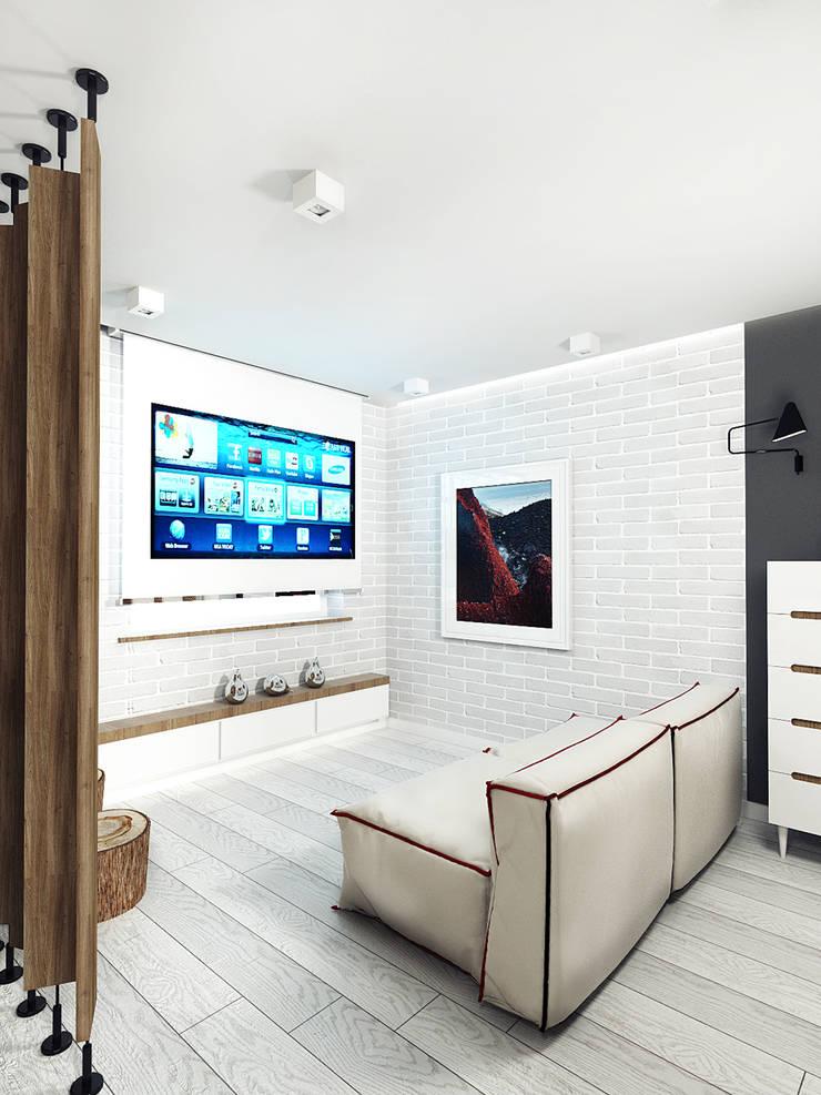 KEKS'S APARTMENT: Гостиная в . Автор – IK-architects