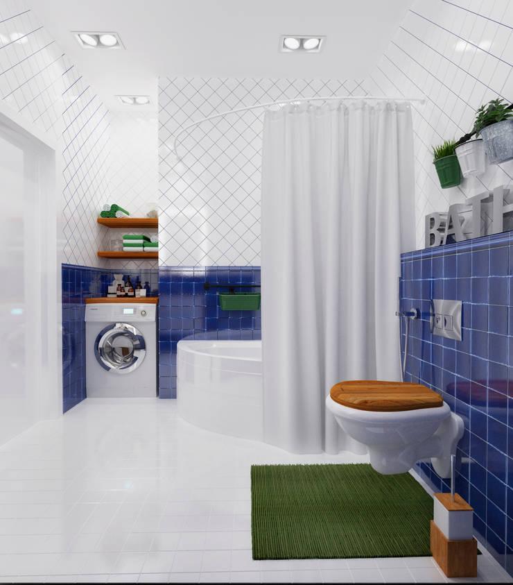 """Ванная комната в """"квартире холостяка"""": Ванные комнаты в . Автор – Настасья Евглевская"""