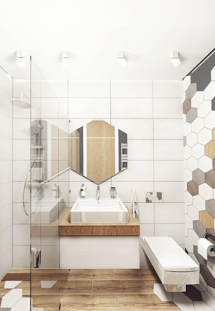 KEKS'S APARTMENT: Ванные комнаты в . Автор – IK-architects