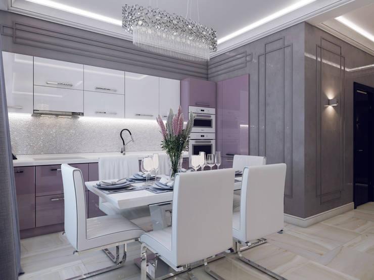 مطبخ تنفيذ Volkovs studio