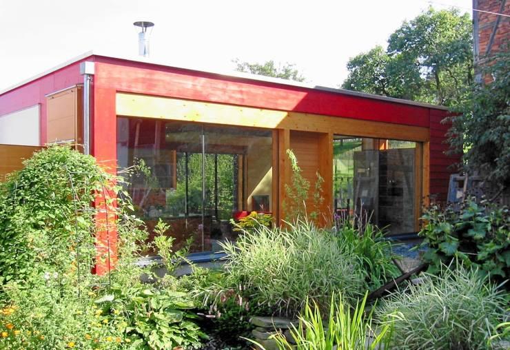 Ansicht vom Innenhof:  Häuser von Architekturbüro Dr. Görstner