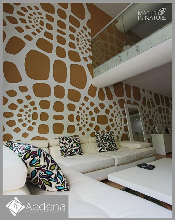 Departamento Capital Park (México DF): Paisajismo de interiores de estilo  por Aedena