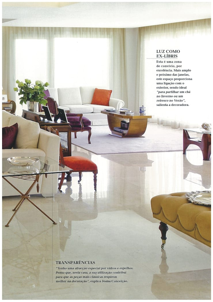 sala: Sala de estar  por Joana Conceição - Architecture and Interior design