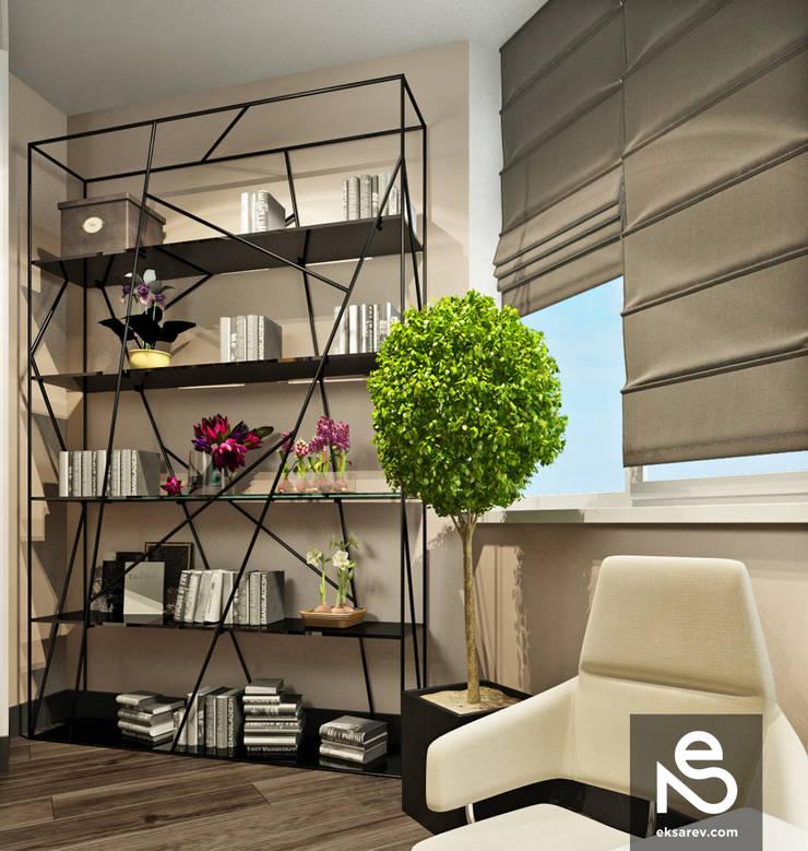 Квартира на Довженко: Медиа комнаты в . Автор – Studio Eksarev & Nagornaya