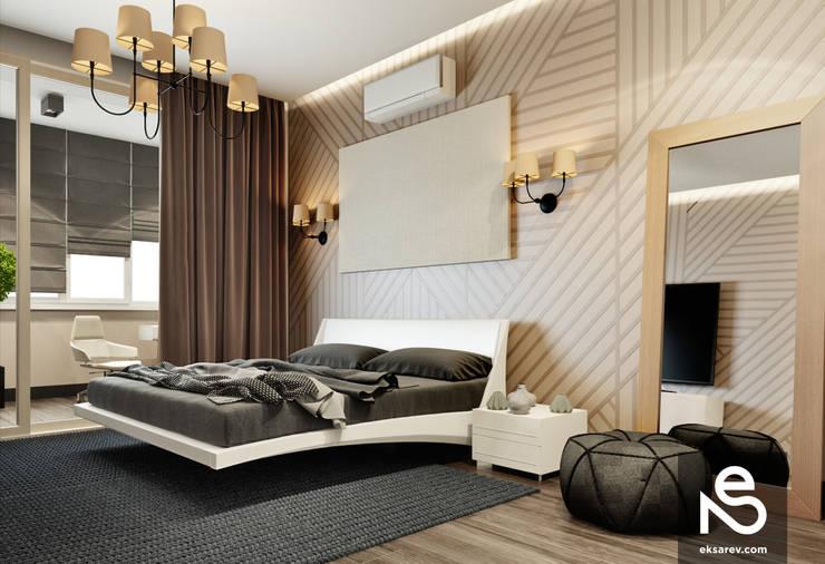 Квартира на Довженко: Спальни в . Автор – Studio Eksarev & Nagornaya