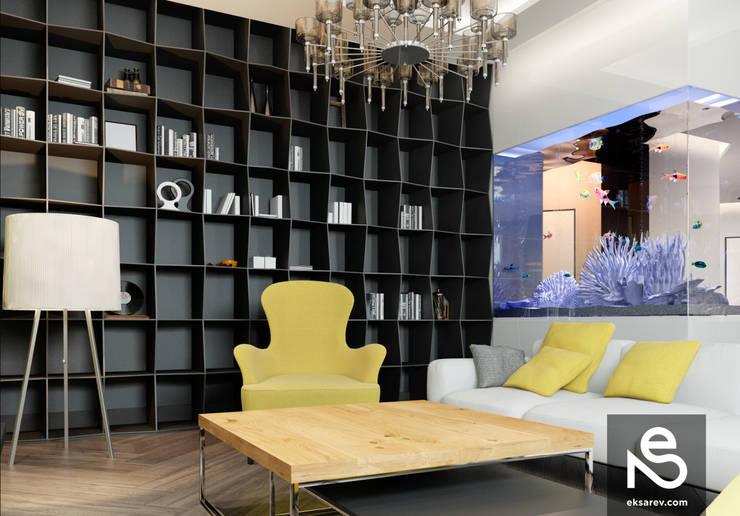 Квартира на Довженко: Гостиная в . Автор – Studio Eksarev & Nagornaya