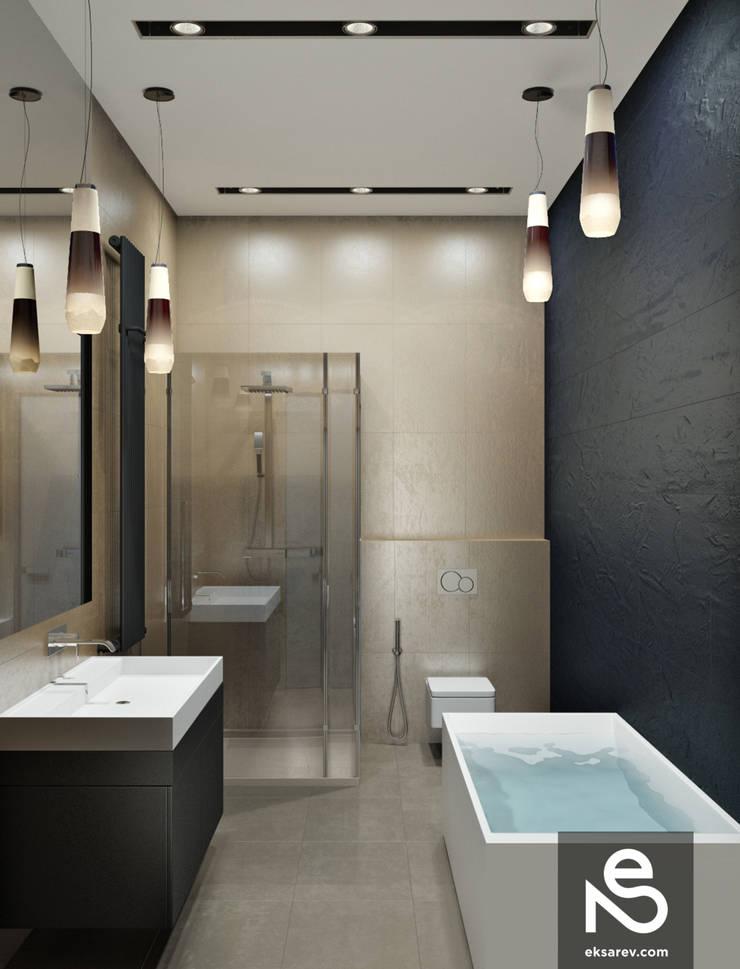 Квартира на Довженко: Ванные комнаты в . Автор – Studio Eksarev & Nagornaya