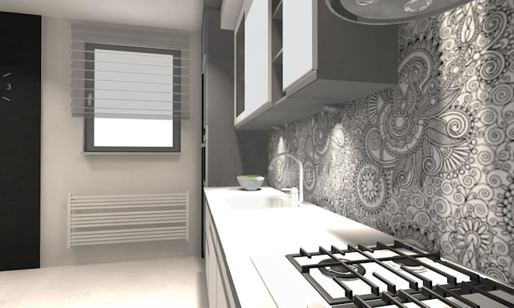 Projekt : styl , w kategorii Kuchnia zaprojektowany przez WRONA STUDIO ,Nowoczesny