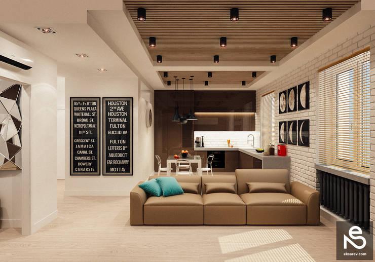 Studio Eksarev & Nagornaya:  tarz Oturma Odası