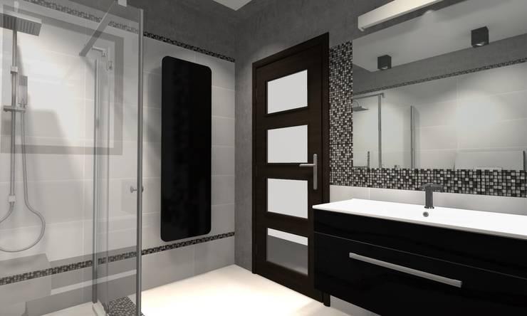 Projekt : styl , w kategorii Łazienka zaprojektowany przez WRONA STUDIO ,Nowoczesny