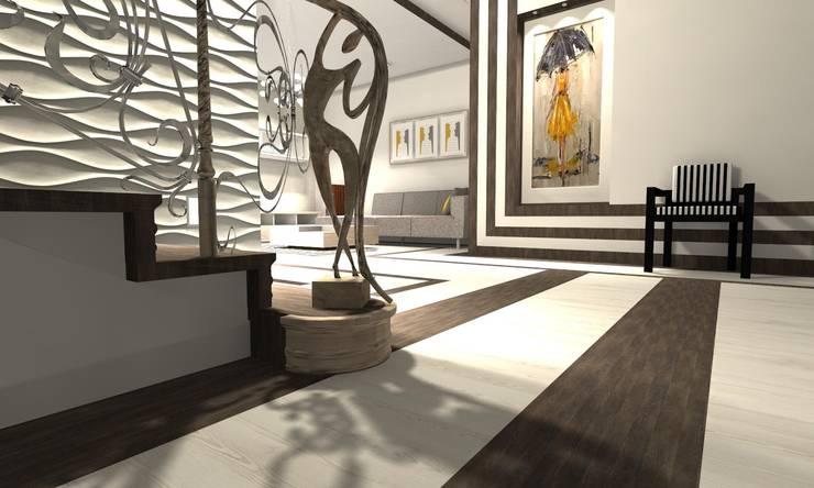 Projekt : styl , w kategorii Salon zaprojektowany przez WRONA STUDIO ,Nowoczesny