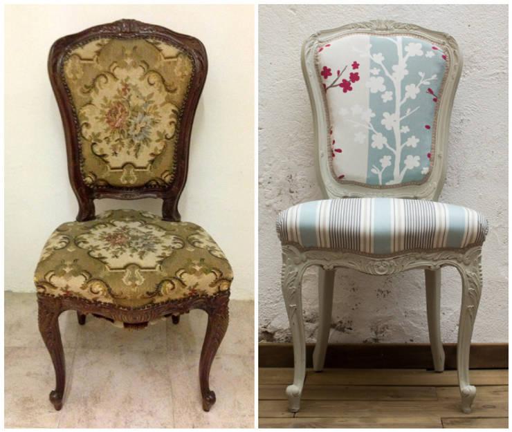 Sillas tipo Luis XV: Salones de estilo  de Studio Alis