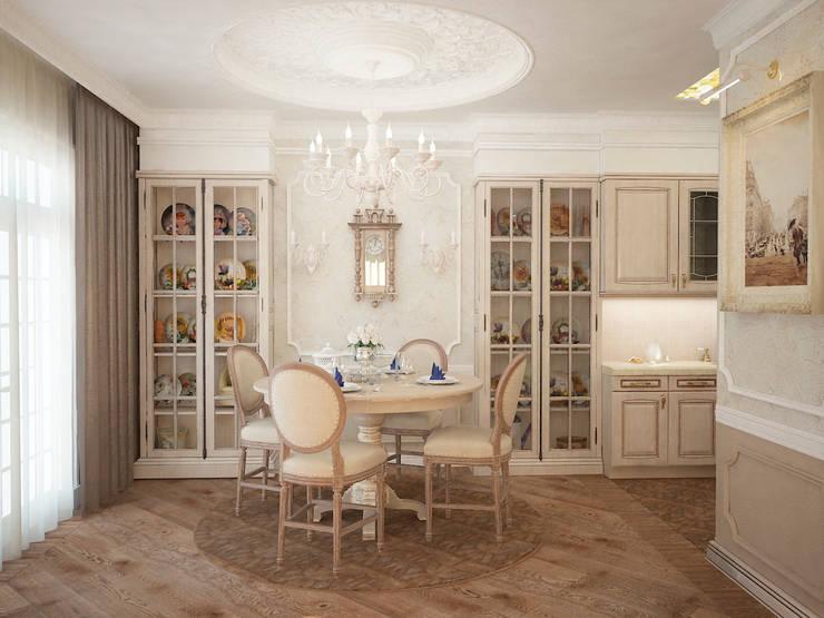 Таунхаус в классическом стиле: Столовые комнаты в . Автор – Настасья Евглевская