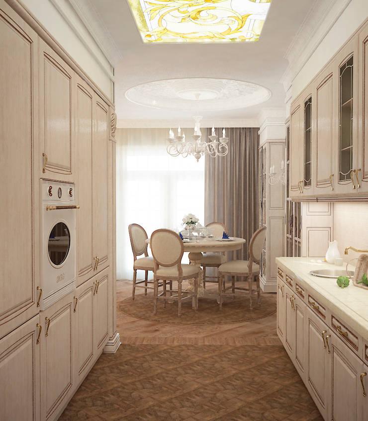 Таунхаус в классическом стиле: Кухни в . Автор – Настасья Евглевская