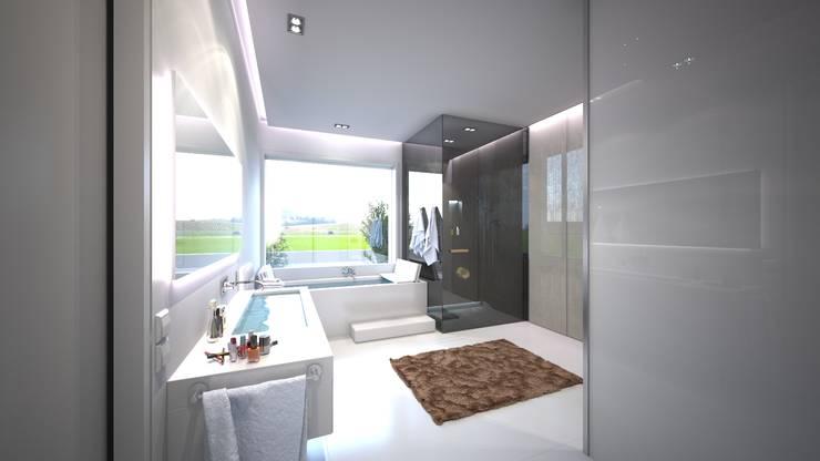 Moderne Dusche im Baddesign:  Spa von Design by Torsten Müller,Minimalistisch Stein