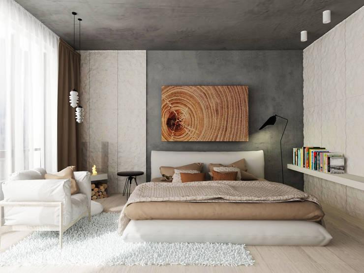 Спальня: Спальни в . Автор – ARCHWOOD, дизайн-бюро