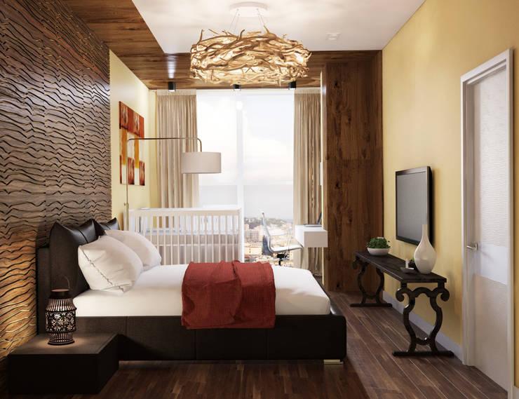 Проект в ЖК <q>Да Винчи</q>: Спальни в . Автор – ARCHWOOD, дизайн-бюро