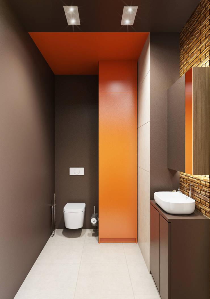 Санузел: Ванные комнаты в . Автор – ARCHWOOD, дизайн-бюро