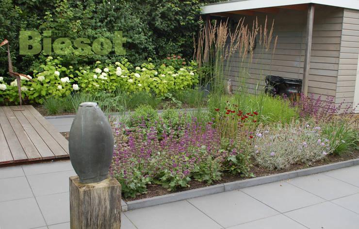 Beplantingvak tuin in Bergen:  Tuin door Biesot, Modern