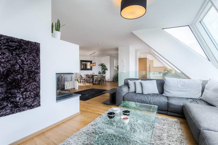 Dachgeschosswohnung Wien 2. Bezirk: Wohnzimmer Von Horst Steiner  Innenarchitektur