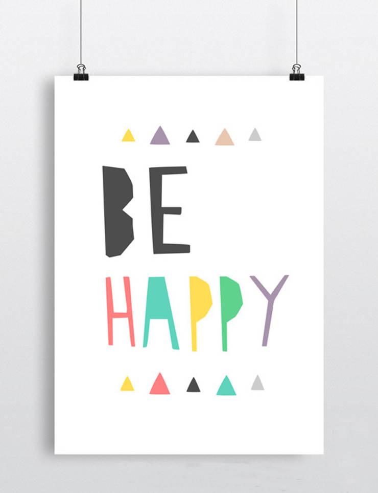 Be happy: styl , w kategorii  zaprojektowany przez boombom,Nowoczesny