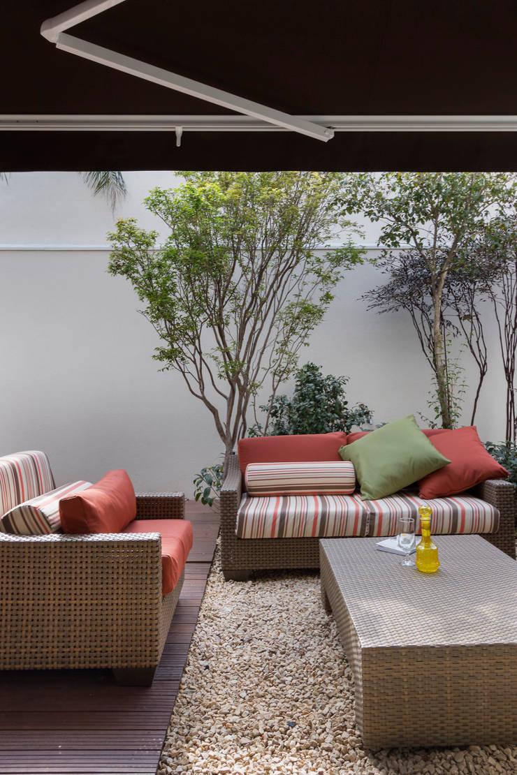 Casa Brooklin: Terraços  por Cactus Arquitetura e Urbanismo