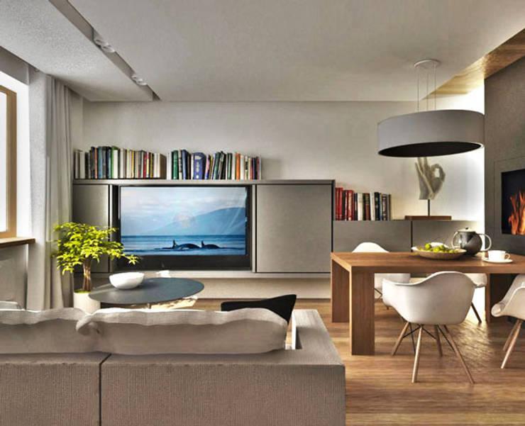 Гостиная: Гостиная в . Автор – ARCHWOOD, дизайн-бюро