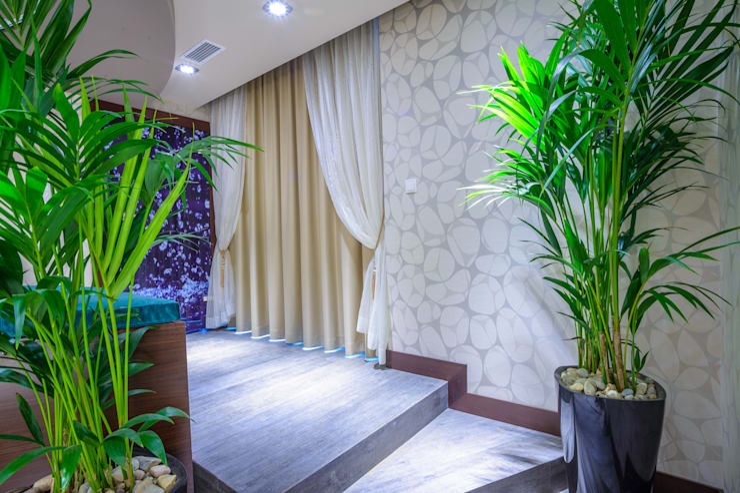 Dekoracje okienne: styl , w kategorii Łazienka zaprojektowany przez Han-Art