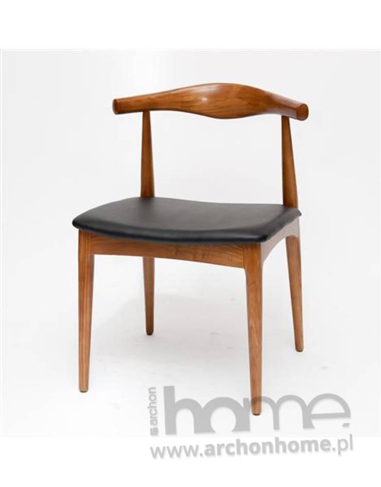 http://archonhome.pl/produkt/mb3f20318c29c8/krzeslo-codo-brazowe-drewno-inspirowane-elbow-chair: styl , w kategorii Jadalnia zaprojektowany przez ArchonHome.pl