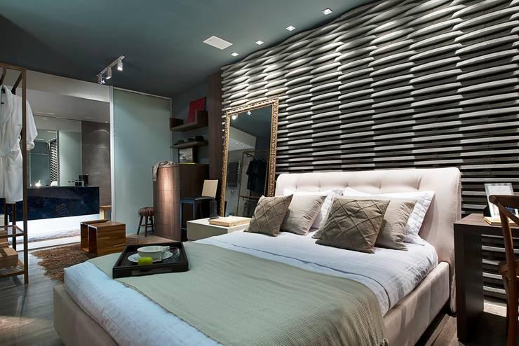 Спальни в . Автор – Cristiane Locatelli Arquitetos & Associados