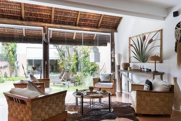 Casa Moema: Terraços  por Cactus Arquitetura e Urbanismo