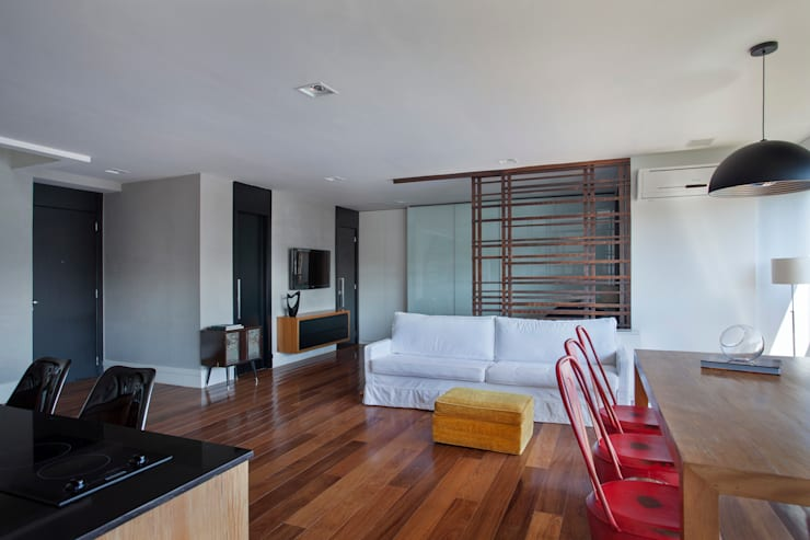 Cobertura Barra: Salas de estar  por ASP Arquitetura