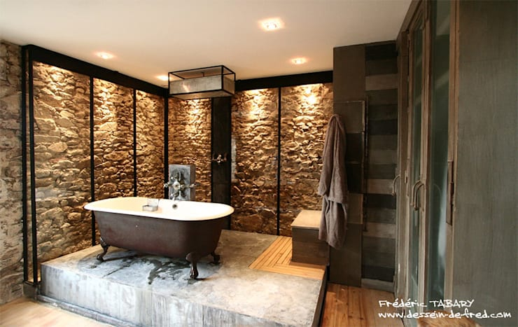 eclectic Bathroom by Tabary Le Lay