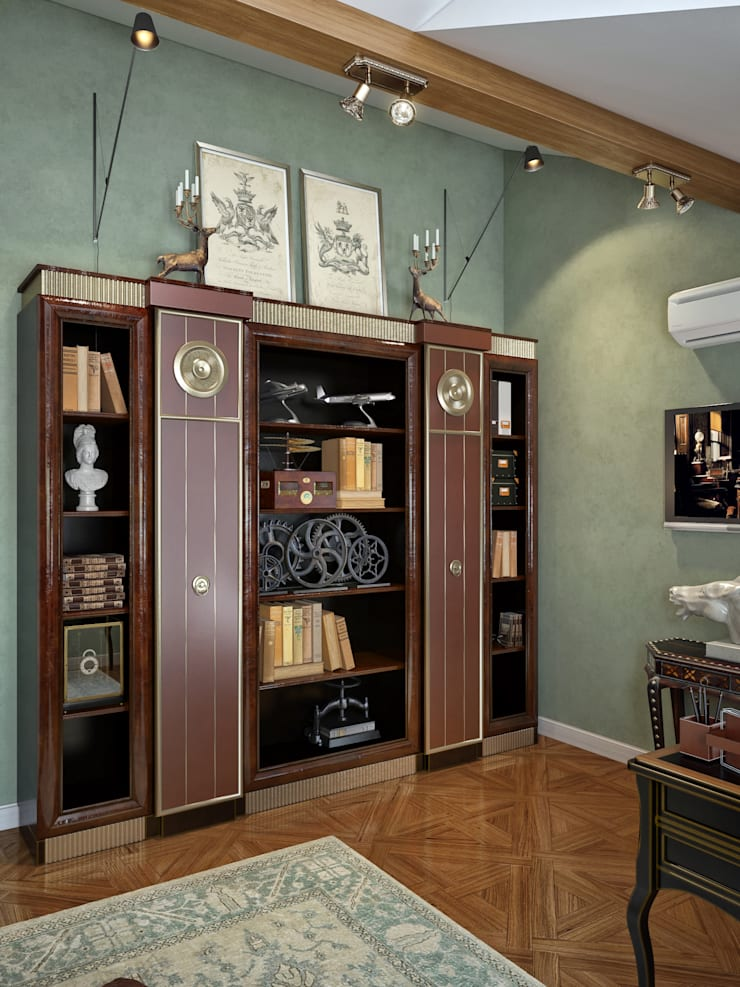 Кабинет в мансардном этаже: Рабочие кабинеты в . Автор – Sweet Home Design