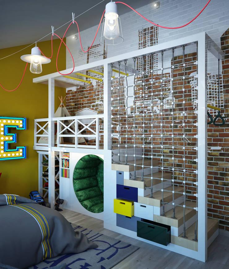 Детская комната для мальчика: Детские комнаты в . Автор – Sweet Home Design,
