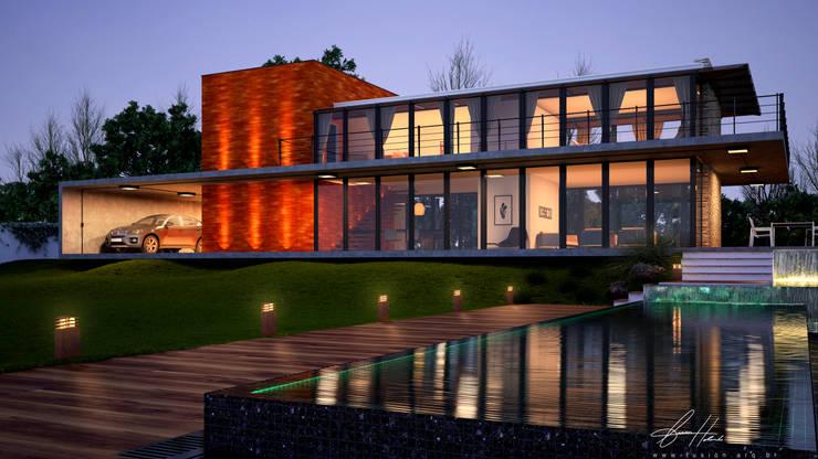 Balcony House: Casas  por Lucas Buarque de Holanda Arquiteto