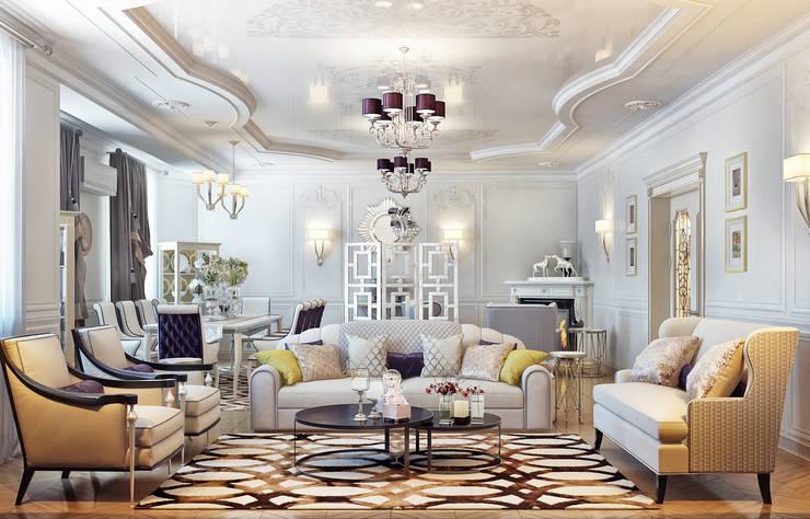 Гостиная в частном доме: Гостиная в . Автор – Sweet Home Design