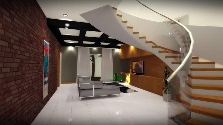 CASA PD – SANTA ISABEL: Salas multimedia de estilo  por Arquitectura . Diseño