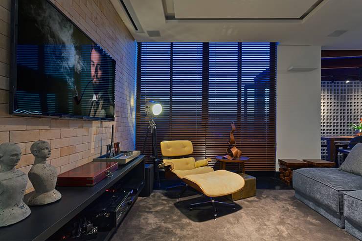 Projekty,  Pokój multimedialny zaprojektowane przez Lucas Lage Arquitetura