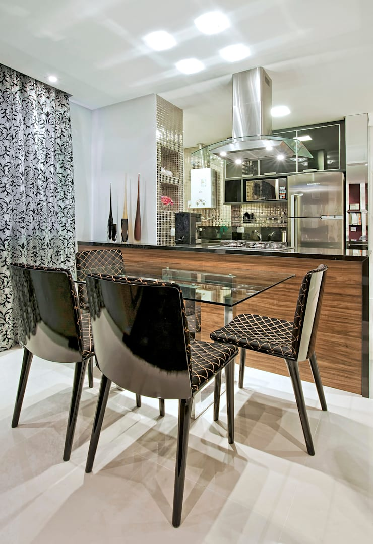 Modern dining room by Luciana Hara Arquitetura Modern