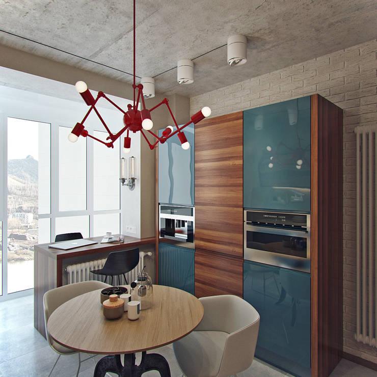 Cocinas de estilo industrial de Студия дизайна Марии Губиной Industrial